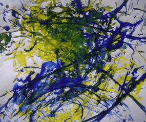 Use Spaghetti to Paint Like Jackson Pollock
