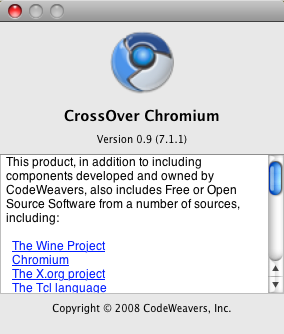 CrossOver Chromium Ports Chrome to Mac and Linux