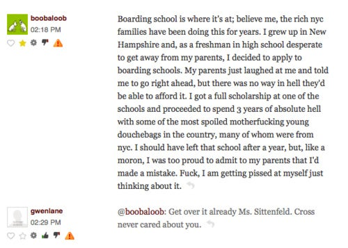 Comment of the Day: The Pain of Boarding School