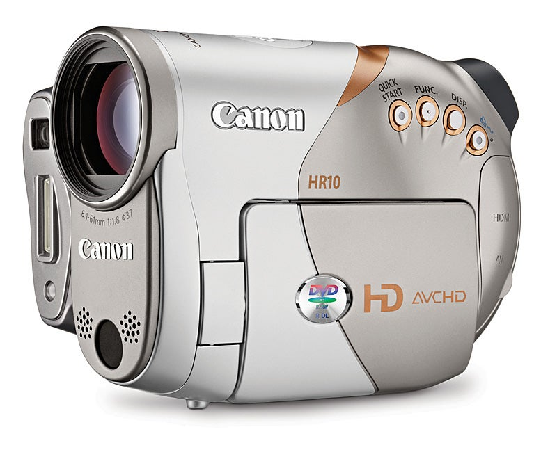 Hands-On: Canon's HR10 HD Camcorder Records on DVDs in Full 1080i