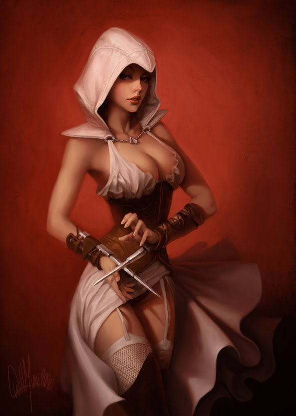 A Slew of Assassins, From Sexy to Cybernetic, Re-imagined for Assassin's Creed: The Encyclopedia