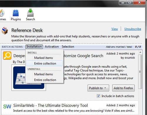 Massive Extender Batch Installs Mozilla Add-On Collections to Save Time