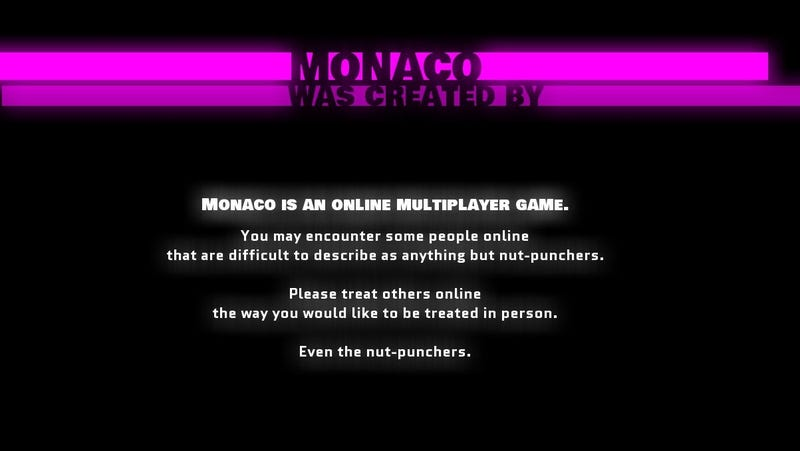The Amusing Messages to Gamers Tucked in Monaco's Credits