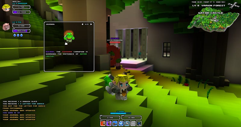 Watch Cube World's New Quest System In Action