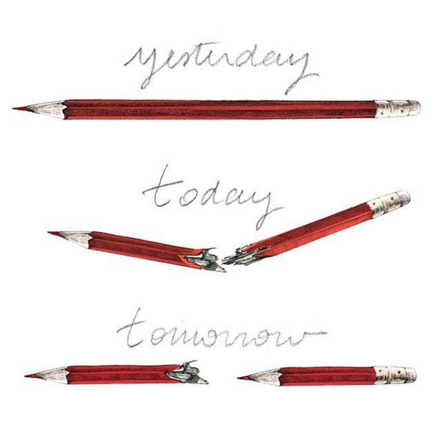 No, that broken pencil illustration isn't by Banksy
