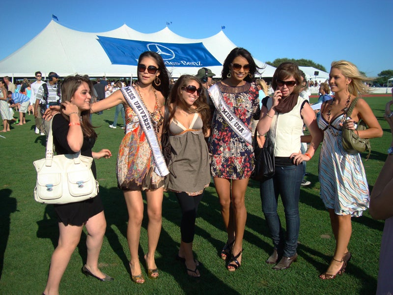 Donald Trump And His Plastic Friends At Polo