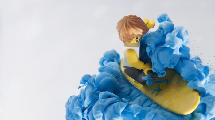 This Minifig Surfer Carves a Righteous Inky Wave