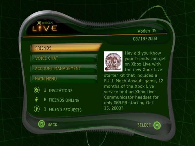 Relive The Horrors of the Original Xbox Live Dashboard