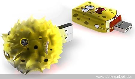 SpongeBob USB Drive Expands When Full