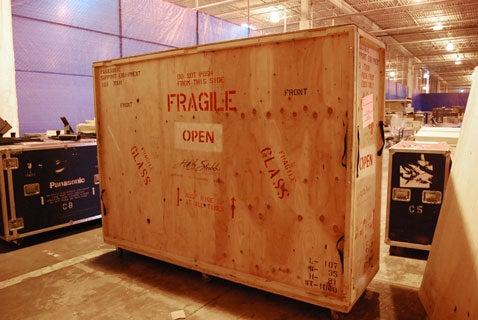 Uncrating a 103-inch Panasonic Plasma (Gallery)