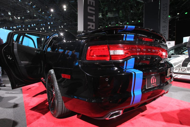 2011 Dodge Charger Mopar Special Edition is all black-and-blue