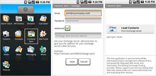 Android Gets Exchange Server Contact Sync Via Third-Party Dev