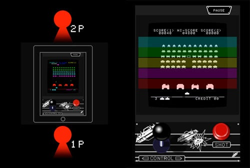 Space Invaders HD for iPad Includes Tabletop Two-Player Mode