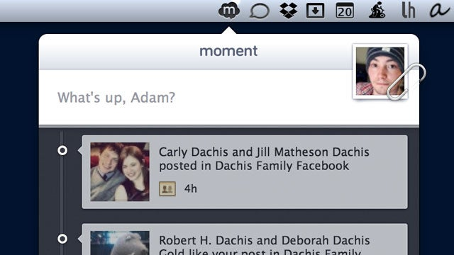 Moment Simplifies Posting Photos and Status Updates to Facebook