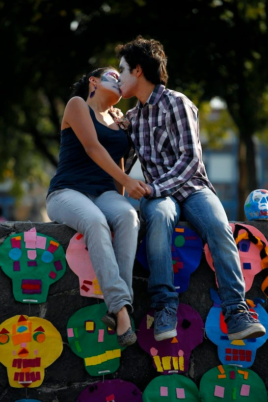 A Life-Affirming Kiss On The Day Of The Dead