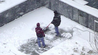 Shovel Snow More Efficiently by Working in Rectangles