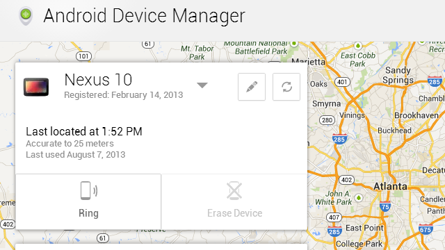 Google's Android Device Manager Finds and Wipes Your Lost Phone