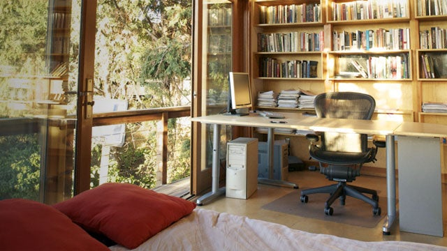 Reclaimed Wood and Plenty of Sunlight: A Writer's Workspace in the Trees
