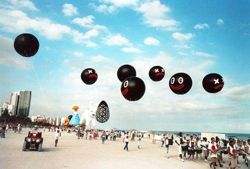 Alien Balloon Creatures Invade Miami Beach