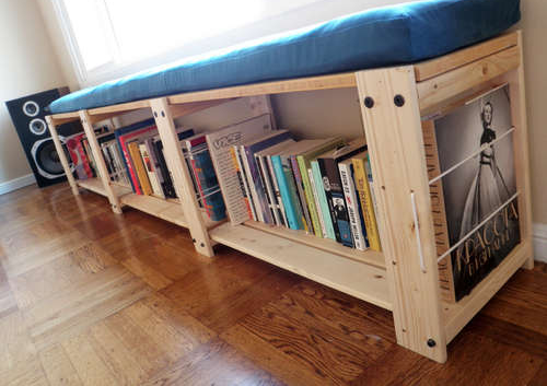 Turn an IKEA Shelving Unit Into a Window Seat