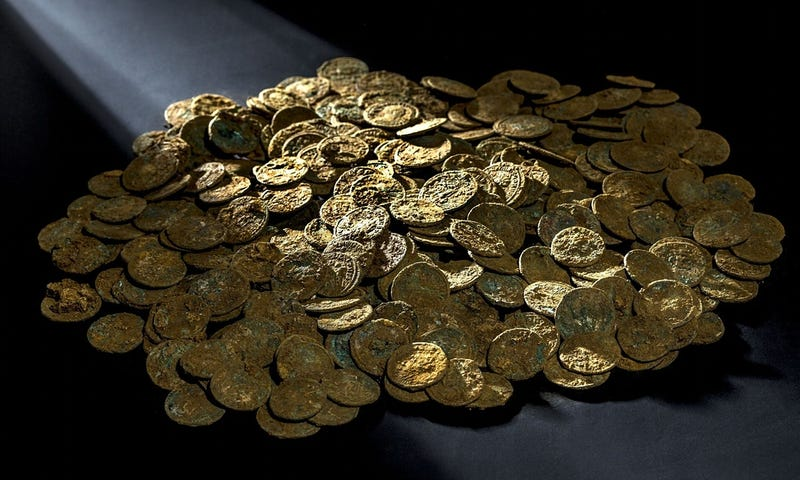 Farmer Discovers Priceless Trove of Ancient Roman Coins While Removing a Molehill