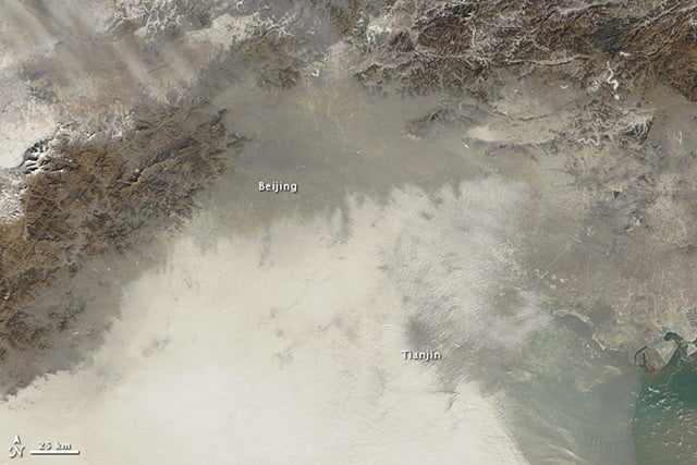 This is what China's record-level air pollution looks like from space