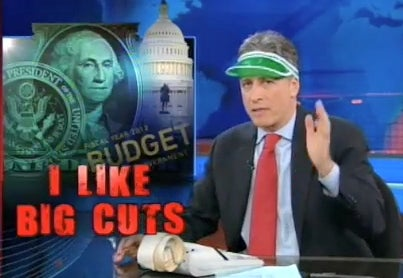 Jon Stewart Tries to Balance Obama's Budget