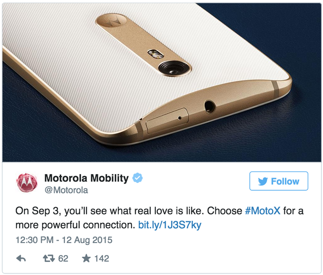 Looks Like the Moto X Pure Edition Is Coming September 3rd