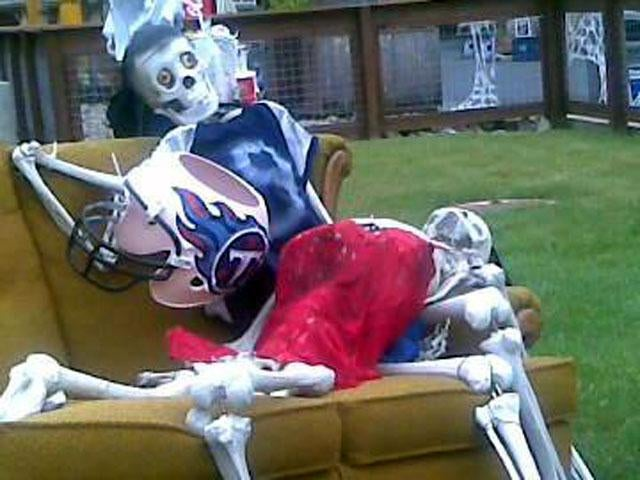 Steve McNair Murder Scene An Ill-Advised Halloween Display