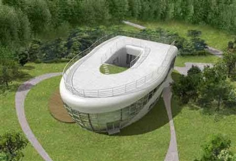Toilet-Shaped House...Now That's Classy