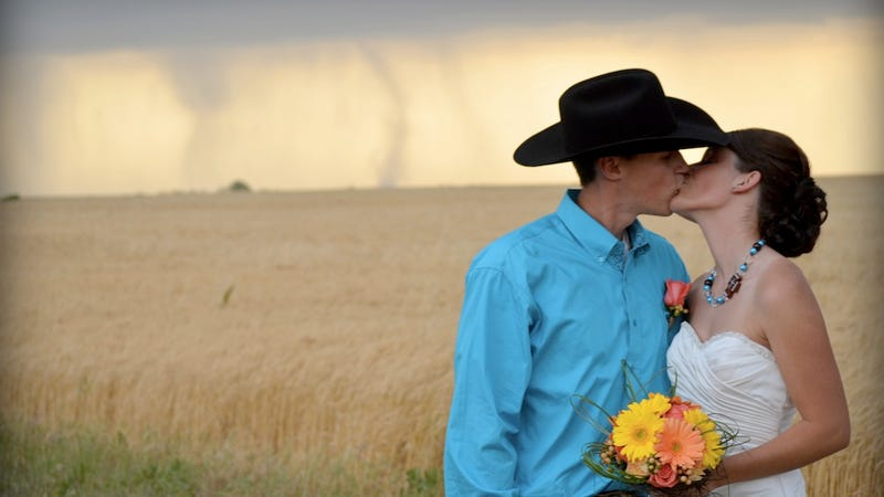 Badass Bride and Groom Totally Unfazed by Ruinous Acts of God
