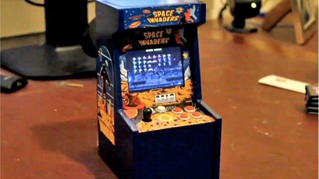 Hold Me Closer, Tiny Space Invaders Arcade Cabinet