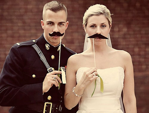 Scoring Sunday's Nuptials: Of Mustache Rides and Moneyed Marriage