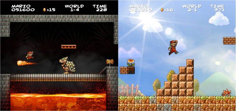Así sería el Super Mario Bros original si lo hubieran creado en HD
