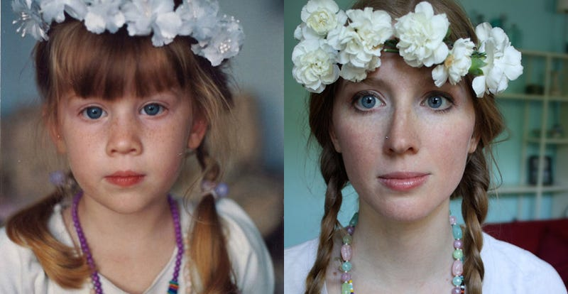 Childhood Photos, Recreated as Adults Today