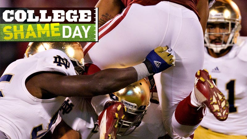 College ShameDay: Who Embarrassed Themselves On Saturday (Besides Poor Bob Stoops)?