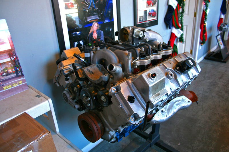 EXCLUSIVE: First Look At Ford's 6.2-Liter V8 Engine...In A Houston Garage?!