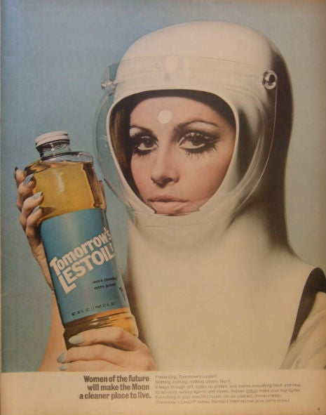Sexist sixties ads claim women will clean everything, even on the moon