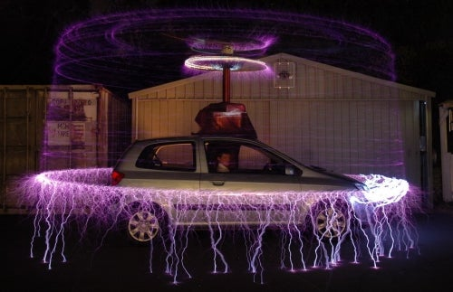 Use a Tesla Coil To Defend Your Hyundai Getz
