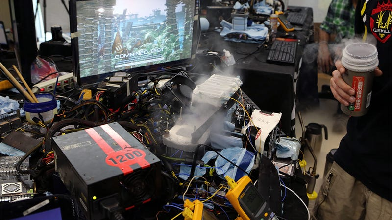 World's Most Overclocked Graphics Cards Look Like a Sci-Fi Movie Set