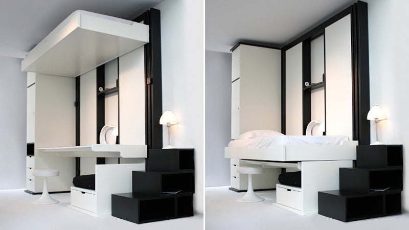 Elevator Beds Keep Your Disheveled Sheets Out of View
