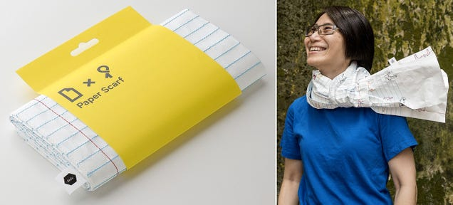 Believe It or Not This Paper Scarf Will Actually Help Keep You Warm