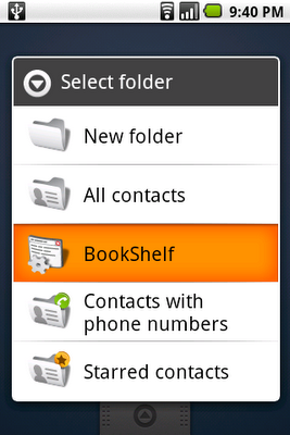 Android Cupcake Live Folders Preview Email, RSS and Playlists Without Opening Apps