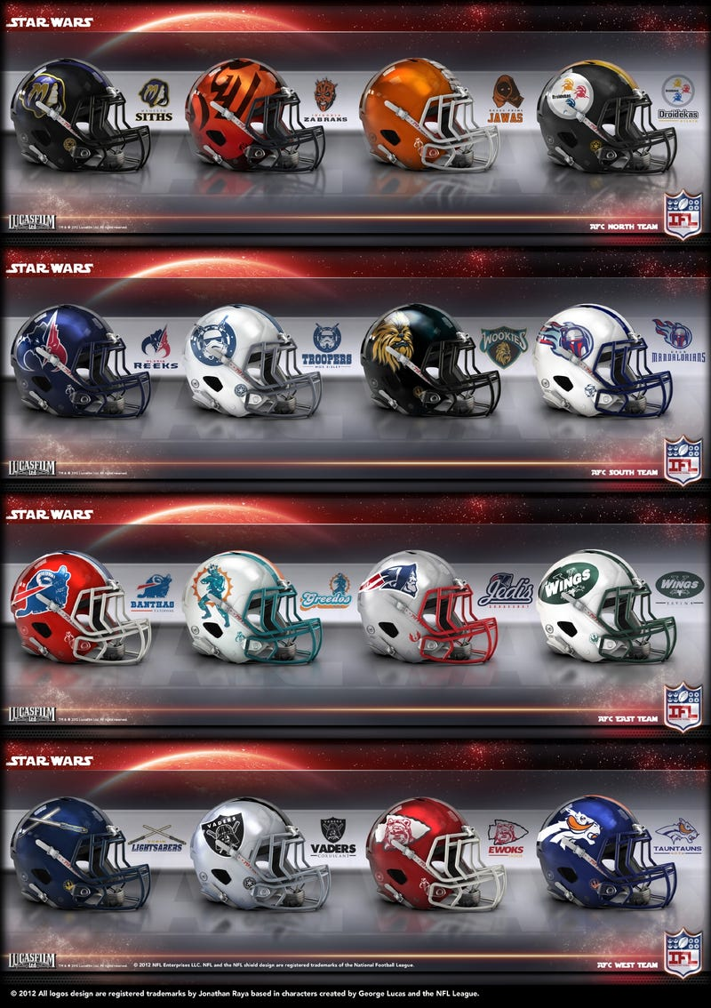 Buffalo Banthas and Oakland Vaders: Helmets of a Star Wars Super Bowl