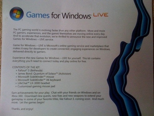 Microsoft Launched Games For Windows Live... Again