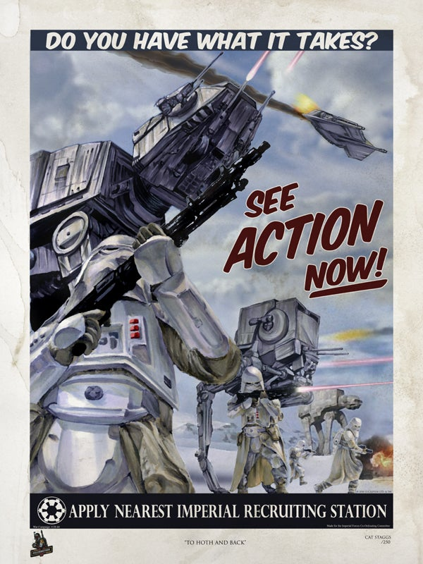 Choose your side of the Rebellion with these retro Star Wars propaganda posters