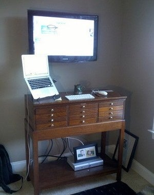 Repurpose and Recycle for an Unconventional but Effective Standing Desk