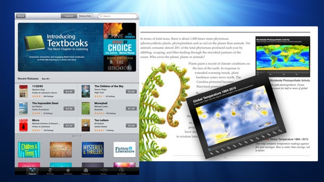 Apple Releases iBooks 2, iTunes U, and iBooks Author for Interactive Textbooks