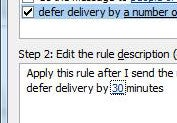Defer Email Delivery in Microsoft Outlook