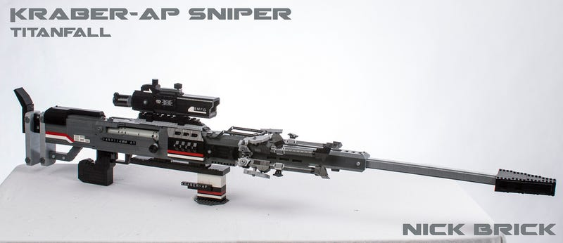 Life-Size LEGO Titanfall Sniper Rifle Is Even Better With A Burn Card